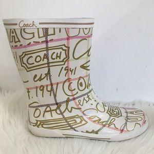 COACH | Graffiti Logo Rain boots 1941 Ursula 10